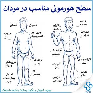بهزی، سطح هورمونی مناسب در مردان